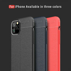 For-iPhone-11-Pro-Max-Shockproof-Rubber-Slim-TPU-Leather-Back-Soft-Case-Cover