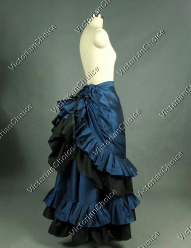 Victorian Costume Dresses & Skirts for Sale    Victorian Edwardian Satin Bustle Skirt Steampunk Punk Theater Costume V K034 XXL  AT vintagedancer.com