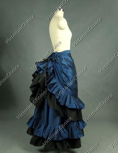 Victorian Costume Dresses & Skirts for Sale   Victorian Edwardian Satin Bustle Skirt Steampunk Punk Theater Costume V K034 XXL  AT vintagedancer.com