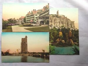 Mohonk-Lake-NY-Postcards-Colorized-Vintage-Unsent-1900s-3-Cards
