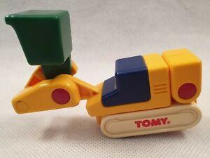 VINTAGE-TOMY-giocattolo-Escavatrice-1988-VINTAGE-TOMY-giocattolo-1980s