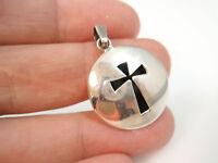 sterling silver 925 taxco mexico vintage cross Shadow Box pendant