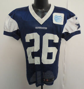 in stock ae39a cbd54 Details about Dallas Cowboys Nike Authentic Practice Worn Jersey with White  AT&T Patch - BLUE