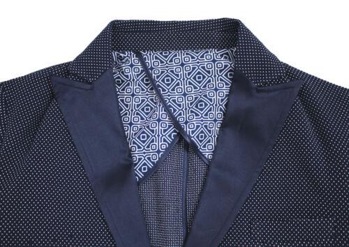 Cotone In Pois Uomo Cerimonia Sartoriale Qbr Giacca A Elegante Blu Raso Etro W70pYqAwH