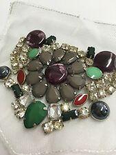 EDEL Strass Applikation Perlen Blume Handgefertigt Aufnähen Brautkleid Kleider 4