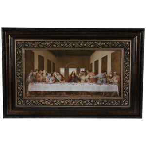 Leonardo Da Vinci Antique Replica Spiritual Last Supper JESUS Wall Art NEW