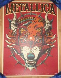 METALLICA-concert-gig-poster-MANNHEIM-GERMANY-2-16-18-2018-Tour-Bioworkz-Kwok
