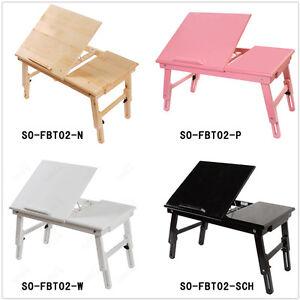 Sobuy table de lit pliable double plateaux en bois pr pc portable ipad fbt02 - Table rectangulaire pliable ...
