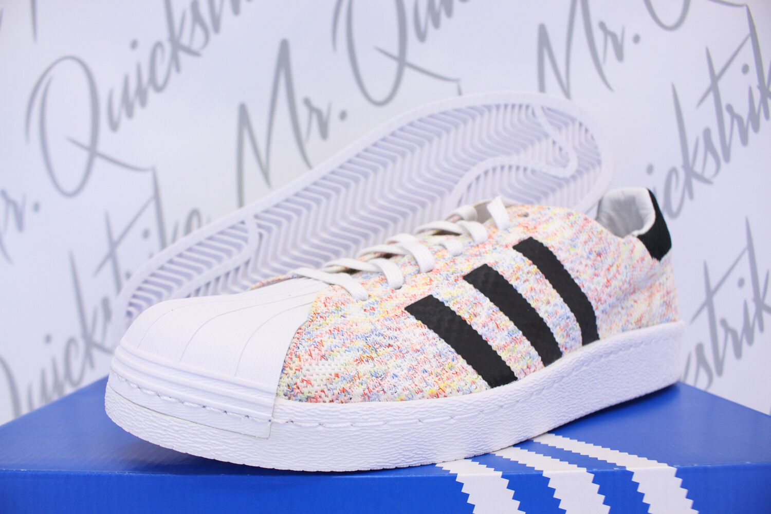 ADIDAS SUPERSTAR 80 'S PACK SZ 8 MULTICOLOR PRIMEKNIT PK S75845
