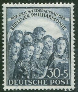 Berlin-73-sauber-postfrisch-Berliner-Philharmonie-1950-Michel-90-00-MNH