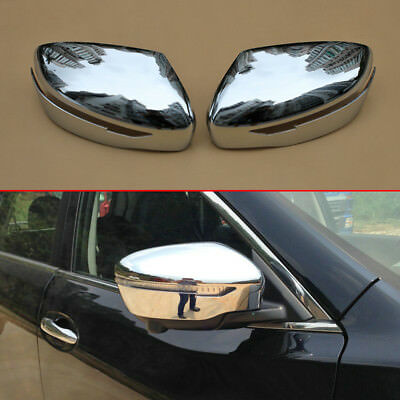 Side Wing Rearview Mirror Cover Trim Fit For Nissan Qashqai J11 2014-2018 Hts