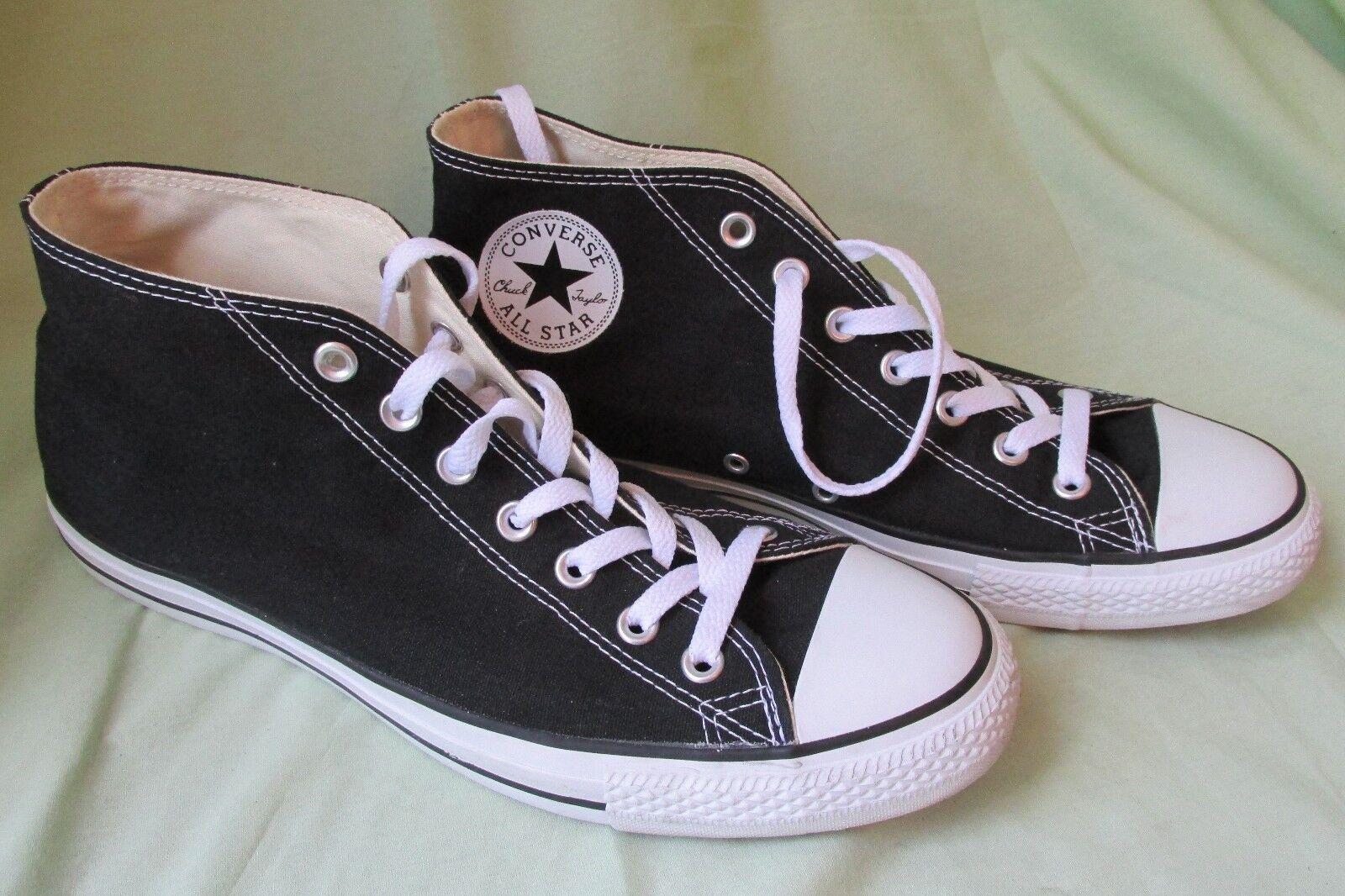 Converse Chuck Taylor Todo Star Medio Negro Blanco ~ Zapatos Zapatos ~  para hombre 11 mujeres 13 usado una vez 13c70a