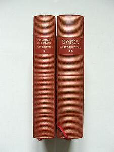 La-Pleiade-TALLEMANT-DES-REAUX-HISTORIETTES-I-amp-II-A-ADAM-NRF-1960-61