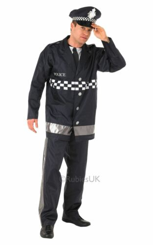 MENS POLICEMAN POLICE OFFICER UNIFORM COP SERGEANT FANCY DRESS COSTUME OUTFIT