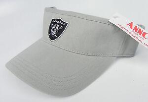 OAKLAND-RAIDERS-LIGHT-GRAY-NFL-AMERICAN-NEEDLE-ANNCO-REPLICA-VISOR-CAP-HAT-NWT