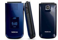 Brand New Nokia 2720 Blue Flip Big Button Unlocked Mobile Phone 1 Year Warranty
