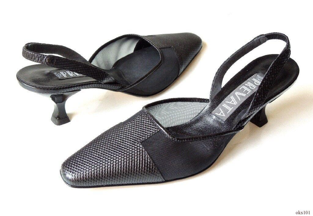 Nuevo  'Dome' 355 Prevata 'Dome'  Negros Cuero malla Zapatos Zapatos de Italia-Hermoso e14850