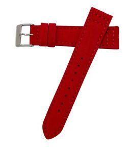 22mm-Hadley-Roma-ms850-Herren-rot-Cordura-Canvas-Watch-Band-Strap-vegan