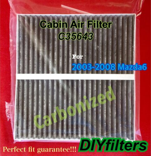 C35643 For 2003 2004 2005 2006 2007 2008 Mazda6 CARBONIZED Cabin Air Filter
