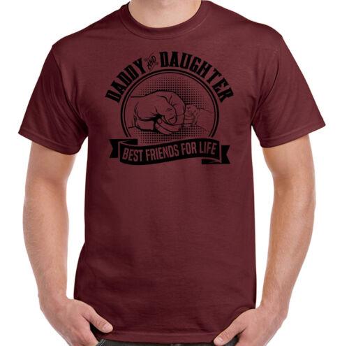 PAPA et FILLE meilleurs amis pour la vie Homme Drôle Père/'s Jour T-shirt Papa Cadeau