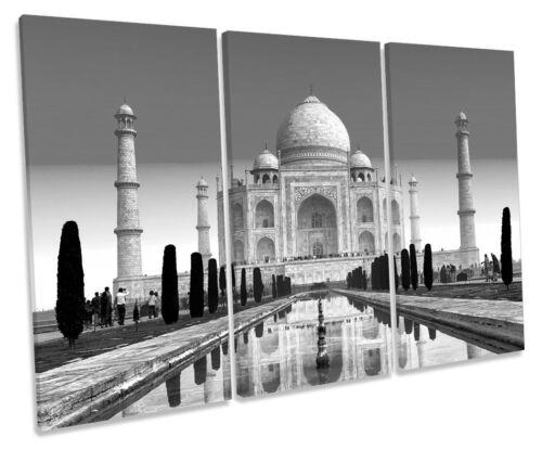Taj Mahal India hitos B/&W lona triple pared arte foto enmarcada de la caja
