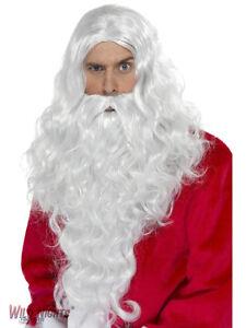 CHRISTMAS-FANCY-DRESS-WIG-SANTAS-BEARD-WIG-SET