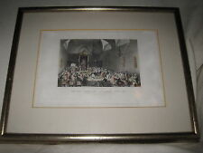 "H. Melville Engraving ""The King Proroguing Parliament April 1831"" Fisher London"