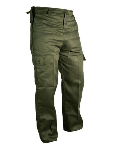 """Olive Green Army Combat Military Trousers Police Security Tactical 30/""""-40/"""""""
