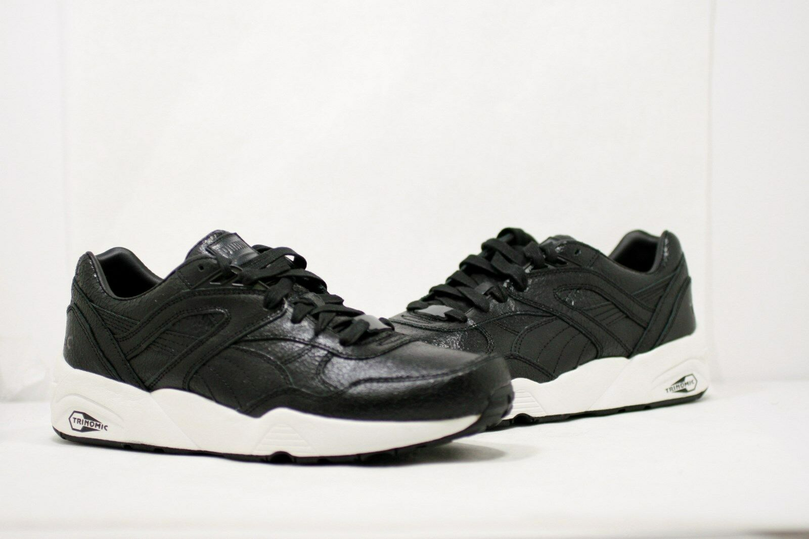 Puma R698 Crackle Black Sneakers 357740-01 Men's Sizes: 10 , 11 , 12
