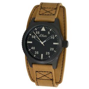 later designer fashion classic style Details about S`Oliver Men's Quartz Aviator Watch So-15151lqr with  Unterleder Bracelet 3atm