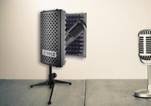 pyle psmrs08 compact microphone isolation shield sound foam reflector ebay. Black Bedroom Furniture Sets. Home Design Ideas