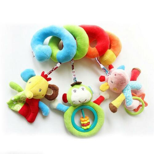 2018 Infant Baby Kids Stroller Bed Around Spiral Hanging Activity Soft Toys
