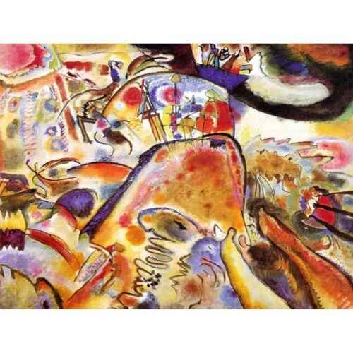 Wassily Kandinsky pintura abstracta viejo maestro pequeños placeres impresión de arte enmarcado