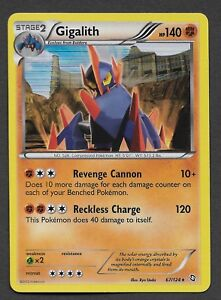 POKEMON-HOLO-RARE-CARD-GIGALITH-67-124-B-amp-W-DRAGONS-EXALTED