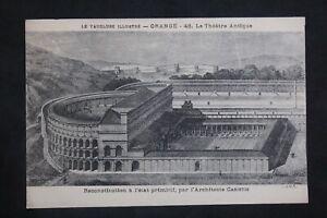 Postcard-Antique-Orange-Theatre-Antique-Reconstitution-IN-Condition-Primitive