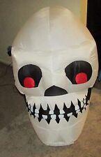 Gemmy Airblown Inflatable skull head 3.5 ft. - Works! Halloween Decor