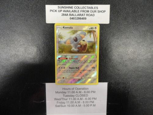 POKEMON SUN /& MOON GUARDIANS RISING REVERSE HOLO KOMALA 114//145