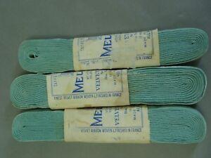 VINTAGE-LUXURIOUS-1940-1950s-FRANCE-VELVET-RIBBON-MILINARY-DOLLS-10yds-wide
