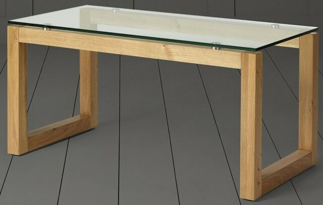 New Tesco Stanbury Glass Top Coffee Table Solid Oak