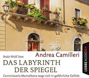 BODO-WOLF-ANDREA-CAMILLERI-DAS-LABYRINTH-DER-SPIEGEL-4-CD-NEW