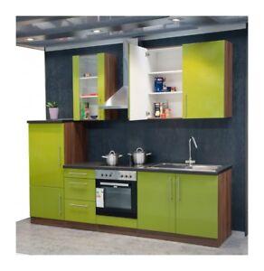 k che ohne e ger te leerblock k chenleerzeile 270cm olive ebay. Black Bedroom Furniture Sets. Home Design Ideas