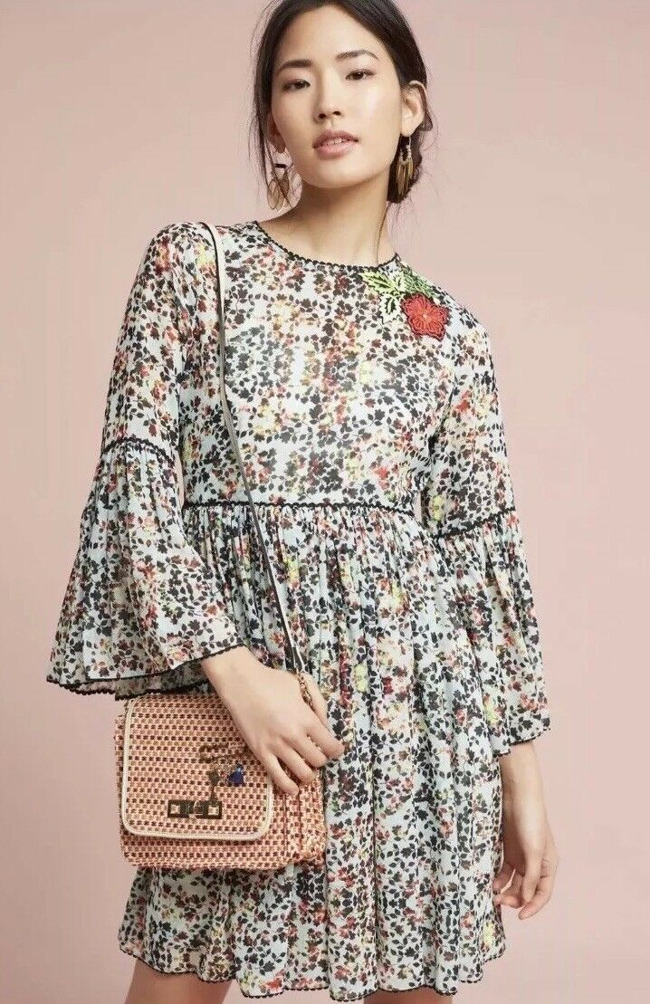 Anthropologie Libra Embroiderot dress 4 small