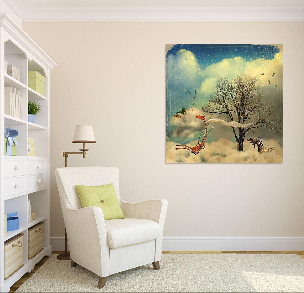 3D Himmel Hirsch Zebra Baum 723 Fototapeten Wandbild BildTapete AJSTORE DE Lemon