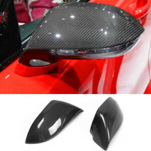 Paar-Carbon-Fiber-Aussen-Spiegelkappen-Gehaeuse-fuer-AUDI-A7-4G-S7-RS7-Mirror-Cover
