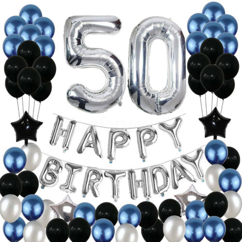 Happy Birthday Ballons Party Decor Number For Age 16//18//21//25//30//40//50//60//70
