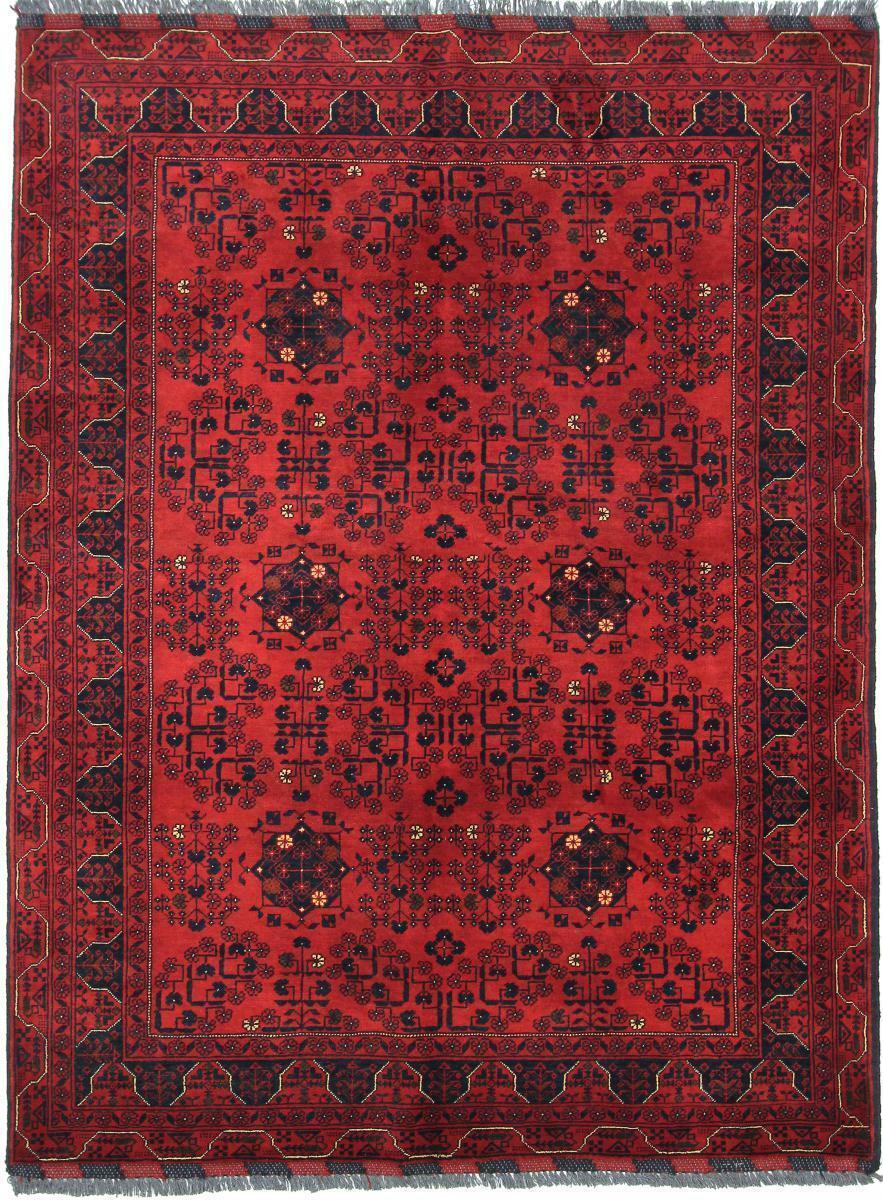 Afgana de Kunduz 196 x 149 alfombra tapete oriental anudado a mano
