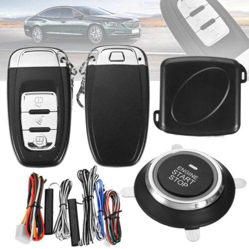 9pcs Start Push Button Remote Starter Keyless Entry Car SUV Alarm System Engine