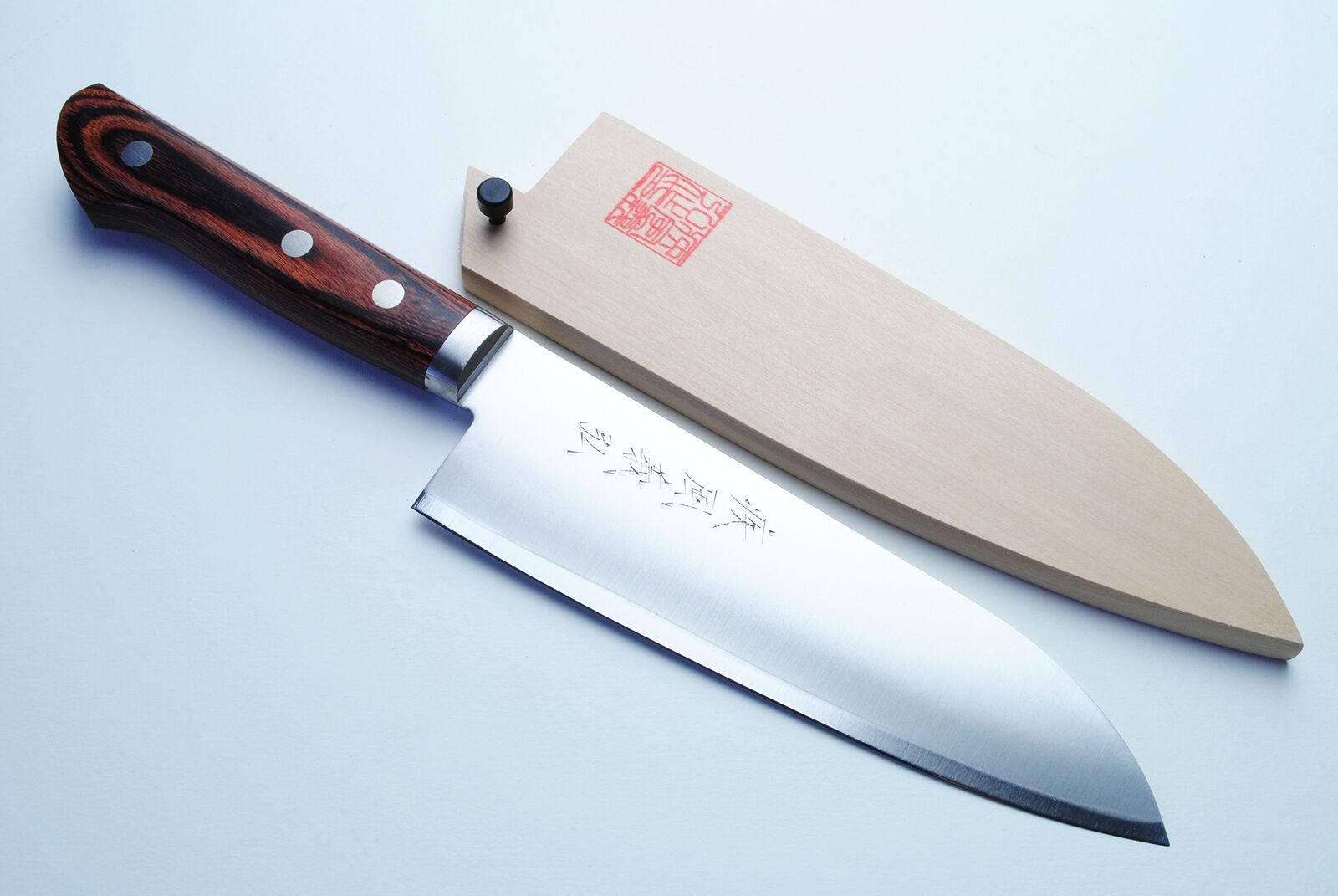 Gold Steel Santoku 16.5cm Japanese sushi chefs knife YOSHIHIRO   eBay