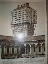 Photo article the new Torre Velasca Milan Italy 1961