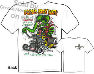 Rat-Fink-T-Shirt-32-1932-Hot-Rod-Tee-Ford-039-s-Kick-Butt-Roadster-Sz-M-L-XL-2XL-3XL